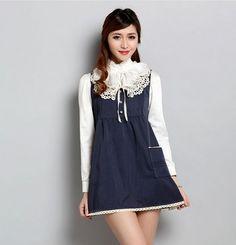 Radiation-free Dress Colour: Navy/white lace