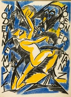 Karl Jakob Hirsch (Germany, 1892-1952), Moderne Musik – Moderner Tanz (Modern music – modern dance), Germany, c. 1919