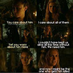 "#The100 2x14 ""Bodyguard of Lies"" - Clarke and Lexa"