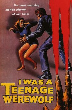I Was a Teenage Werewolf is a 1957 horror film starring Michael Landon as a troubled teenager. Praised by, at least, Variety for his portrayal -- Landon went on to inflict a public hungry for suckage with just what they deserved: Little House and Highway to Heaven. He was still tolerable in Bonanza, but barely.
