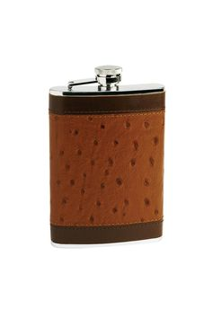 ostrich leather flask, like a boss