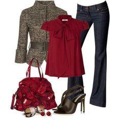 Cranberry n tweed