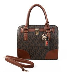 Michael Kors Hamilton In Signature Medium Coffee Brown Totes only $72.99