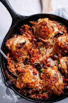 One Pot Italian Sundried Tomato Chicken and Rice : cafedelites Rice Recipes, Chicken Recipes, Cooking Recipes, Recipies, Chicken Ideas, Dinner Recipes, Italian Chicken And Rice Recipe, Frango Chicken, Sundried Tomato Chicken