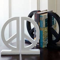 Peace Sign Book ends
