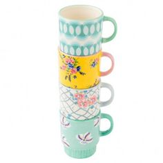 Stackable Breakfast Mugs (set of 4)