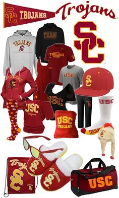 USC Trojans lead the way with their Red and Yellow gear!