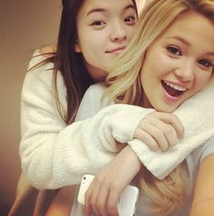 Olivia Holt With Piper Curda January 17, 2014