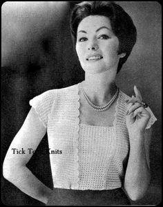 No.159 Crochet Pattern PDF Vintage For Women  La by TickTockKnits, $3.85