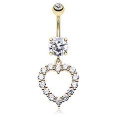 Nombril coeur luxe diamant