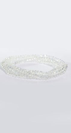 stretch bling necklace white