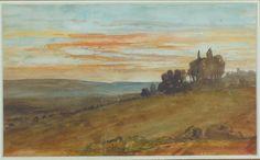 """""""En attendant Bonington"""" aquarelle de Paul Huet . """"Paul Huet fut l'élève de Pierre-Narcisse Guérin puis du baron Antoine-Jean Gros de 1819 à 1822. C'est dans son atelier qu'il fit la connaissance de Richard Parkes Bonington (1802-1828), peintre d'origine anglaise qui avait grandi à Calais et qui manifesta dès son apprentissage un don remarquable pour les aquarelles."""""""