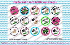 """1"""" Bottle Caps wild about my daddy 4 x 6 bottle cap #family #friends #bottlecap #BCI #shrinkydinkimages #bowcenters #hairbows #bowmaking please purchase via link  http://craftinheavenboutique.com/index.php?main_page=index&cPath=323_533_42_63"""