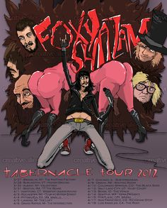 Designed by Derek Knierim for the contest to create a poster for Foxy Shazam's tour #music