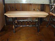 Amish Honey Brook Hickory Backless Bench