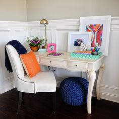 Interior Design: Office Nook Update the Before and After - Pink Peppermint Design