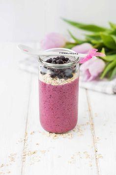 Frühstücks Smoothie - Rezept mit Haferflocken und Joghurt