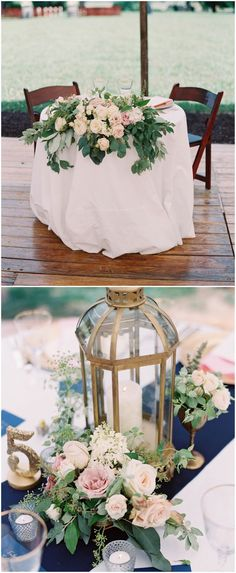 Image result for navy and blush wedding centerpieces