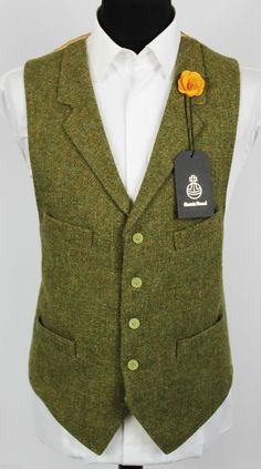 Harris Tweed Waistcoat Lapel Hand Tailored Wedding Large 44/46 EXCLUSIVE ITEM…  favorable solar system
