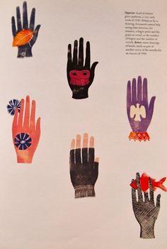 Fornasetti, designer of dreams Hand Illustration, Hand Kunst, Show Of Hands, Magic Hands, Hand Images, Folk, Hand Art, Cards For Friends, Textile Design