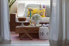 Decoração de: Detalhes; garden seat branco; Casa de Valentina