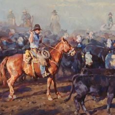 Everyday moments of the working cowboy become works of art thanks to Western artist Jason Rich.