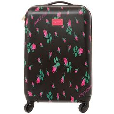 Betsey Johnson World Traveling Roller Luggage Handbag ($140) ❤ liked on Polyvore featuring bags, luggage and rose