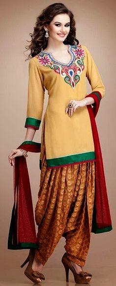 Patiala Salwar | Patiala Trouser with Short Kurta for Girls | Latest Punjabi Patiala Suits for 2015 - She9 | Change the Life Style