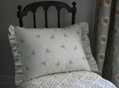 This pretty cushion has been made with Peony Bed Pillows, Cushions, Cushion Fabric, Handmade Design, Soft Furnishings, Peony, Pillow Cases, Fabrics, Home