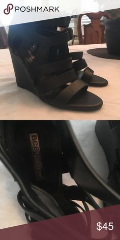 ba0cb247f BCBGeneration wedges. Size 8. Black. Basically brand new and in great  condition.