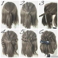 Easy Hairstyles For Short Hair To Do At Home Mesmerizing 5 Fast Easy Cute Hairstyles For Girls  Pinterest  Low Updo Updo
