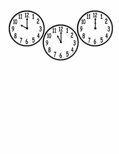 Children's activity and craft templates. Elementary Math, Clock, Templates, Printing, Craft, Basic Math, Watch, Models, Stenciling