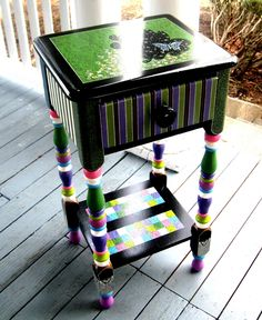 Painted Butterfly Table -Come Fly Away One of a Kind. $975.00, via Etsy.