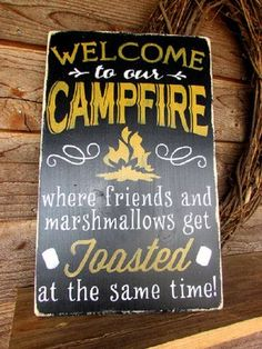 primitive country sign outdoor sign wall decor campfire sign funny sign home decor primitive country distressed wood sign painted Primitive Country Signs, Country Wood Signs, Primitive Homes, Rustic Signs, Wooden Signs, Rustic Decor, Primitive Decor, Primitive Pillows, Primitive Country Decorating