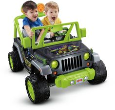 """Let your kid get a fun """"off-road"""" adventure with this mutant jeep wrangler. It has cool colors and graphics that make it an ultimate attention grabber. The character phrases, music and sounds will certainly put your child in a good mood."""