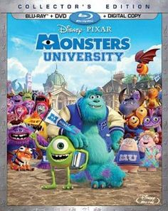 Monsters University (Blu-ray + DVD + Digital Copy) Walt Disney Studios Home Entertainment Monsters University (Blu-ray + DVD + Digital Copy) Disney Pixar, Dvd Disney, Walt Disney, Disney Blu Ray, Disney Movies, Disney Couples, Monster University, Disney University, Mike E Sulley