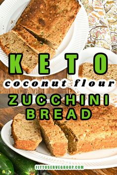 This keto coconut flour zucchini bread is moist, dense, slightly sweet, and a delicious way to add more fiber to your keto diet! It's a keto zucchini bread recipe that is not only tasty but a healthier option. low carb zucchini bread| gluten-free zucchini bread Lowest Carb Bread Recipe, Low Carb Bread, Keto Bread, Gluten Free Zucchini Bread, Zucchini Bread Recipes, Coconut Flour Bread, Grain Free Bread, Low Carb Breakfast, Low Carb Recipes
