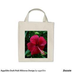 Aggelikis Dark Pink Hibiscus Design