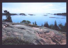 Killarney Provincial Park, Ontario, the beautiful coloured rocks of the Canadian Shield