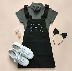 Girls Fashion Clothes, Teen Fashion Outfits, Kids Outfits, Ddlg Outfits, Cute Casual Outfits, Pretty Outfits, Stylish Outfits, Stylish Eve, Kawaii Fashion