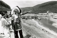 One of the many photographs from the time of the great removal of families to make way for the Kinzua Dam.  (Courtesy of the Seneca Iroquois National Museum)