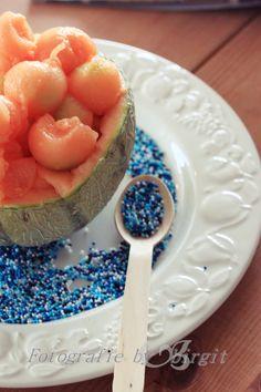 Melone im Sommer , eisgekühlt, bisschen Ahornsirup drauf, lecker... Cantaloupe, Fruit, Food, Maple Syrup, Ice, Summer, Dekoration, Essen, Meals