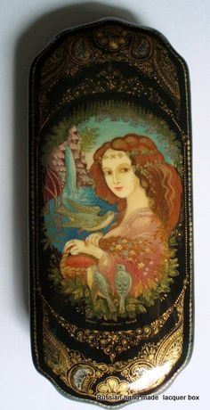 Hand painted Russian Art, - Russian Lacquer Box