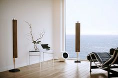 Beautiful New Bang & Olufsen BeoLab Wireless Speakers and Subwoofer.