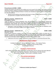 preschool teacher resume sample page 2