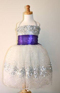 Silver Constellation Flower Girl Dress Purple by DolorisPetunia, $400.00 - Dress for Elena?? So cute! (so pricey...)