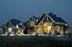 Prachtig huis, moderne woning. Amerikaanse stijl.