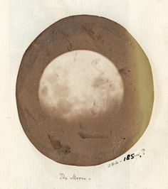one of the first photographs taken of the moon, by John Dillwyn Llewelyn, 1854