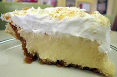 LUCIOUS LEMON Ice Box PIE - just shut the front door and get a fork! The vanilla wafer crust is better to me than the graham cracker and the whipped cream topping is kissed with a sparkle of lemon zest. The pie is ALL the usual stuff and a lot of it!