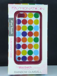 Macbeth collection Rainbow gumball for ipod touch 5th generation pkg 1 #macbeth